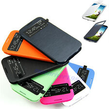 Synthetic Leather Wake Sleep Smart Flip Cover Case For Sumsung i9500 Galaxy S4