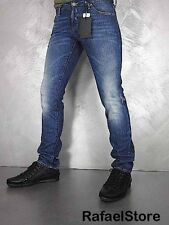 Men's Jeans DSQUARED Denim Slim Jean Dean Dan Blue Stretch Cotton Made Italy New