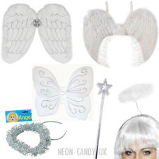 ANGEL FANCY DRESS Childrens Nativity Xmas Play Gabriel Costumes Wings Halo Wand