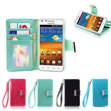 IZENGATE Wallet Flip Case PU Leather Cover for Samsung Galaxy S2 Boost Mobile