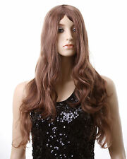 Womens Girls Wig 3 Color Long Fashion Wavy Natural Hair Cosplay Party Wig Cap