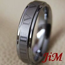 Tungsten Ring Mens Womens Wedding Band Titanium Color Rome Jewelry Size 6-15
