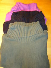 WOMENS COWL NECK SWEATER M XL Green Purple Black Solid Turtleneck Old Navy NEW!
