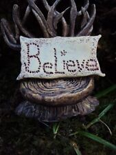 MINIATURE/FAIRY GARDEN PILLOW (Choose from BELIEVE, LOVE, FAITH, HOPE OR FAIRY)