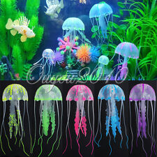 Glowing Effect Jellyfish for Aquarium Fish Tank Ornament Swim Pool Decor 8cm