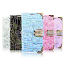 For Samsung Galaxy S3 SIII I9300 Leather Flip Wallet Pouch Bling Case Cover Skin