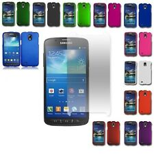 For AT&T Samsung Galaxy S4 Active Rubberized Hard Cover Case+Screen Protector