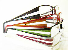 GELATO Metal 2Tone Reading Glasses Wide Frame Orange Kiwi Green Red Black Bronze