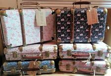 Vintage large Storage Suitcase floral trunk bedroom box Gorgeous