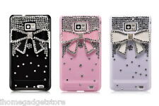 Coque Nœud Strass + Film Protection Écran Compatible SAMSUNG GALAXY i9100 S2