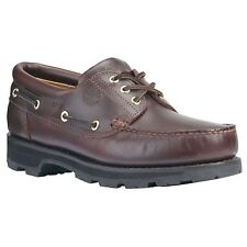 Timberland Brown Leather Boat Shoes Mens Wide Sizes Classic 32026