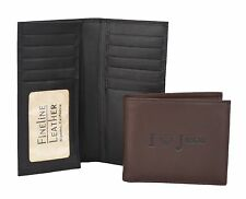 FINELINE LEATHER Men's Checkbook Secretary includes Personalized Imprinting 107
