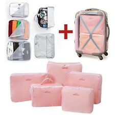 Portable 5pcs/set Waterproof Packing Cubes Clothes Underwear Storage package Bag