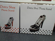 Dotty Mobile Phone Shoe Stand  Eco Amplifier Black/white, Red/White