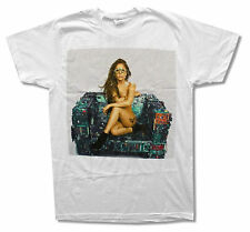"""LADY GAGA """"NAKED CHAIR"""" ARTPOP WHITE SLIM FIT T-SHIRT NEW OFFICIAL ADULT"""