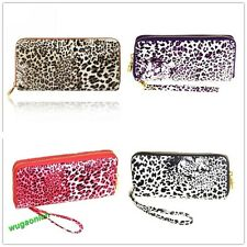 Women Money Wallet Leopard Pockets Wallet Cards ID Purse Clutch 4 Colors