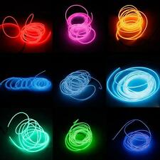 3M LED Flexible Tube Soft Lamp Light w/ Controller 10 Color Xmas Party Car Decor