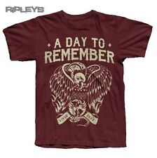 Official T Shirt A DAY TO REMEMBER Maroon VULTURE Logo All Sizes
