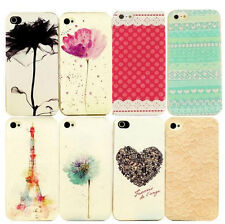 Painted Fashion Pattern Phone Hard Back Skin Case Cover for Apple IPhone 4S 5S