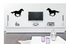 Horse wall sticker decal hest häst cheval caballo / twice x 2 /