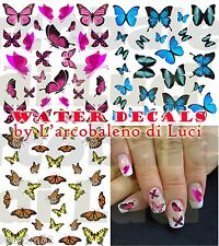 WATER DECALS FARFALLE BUTTERFLIES STICKERS UNGHIE NAIL ART ADESIVI TATTOO DECAL