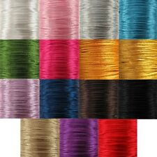 1MM Quality Rattail Satin Cord 6 Or 92 Metres Suitable For Kumihimo And Macramé