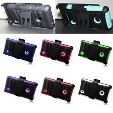 For Nokia Lumia 521 Cell Phone Case Hybrid Hard Cover Belt Clip Holster Stand