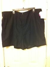 New Croft & Barrow Tummy Slimmer lined black polyester shorts 2 sizes