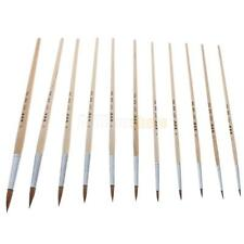 11 X Type Gouache Oil Painting Delineating Brush Pen Beige Painting Brush