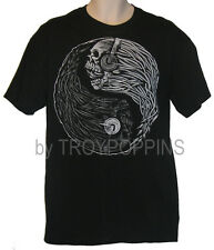 LIVE WIRE ROCK N ROLL YIN YANG SKULL AMP WIRES T-SHIRT GRAPHIC PRINTED TEE