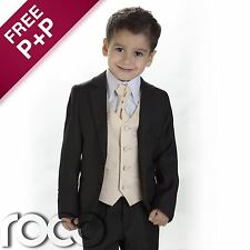 Boys Black & Gold Suit, Page Boy Suits, Boys wedding Suits, 1 - 14 years
