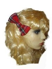 Red Tartan Bendy Wrap - Oversized Red Tartan Bow - Red Tartan Hair Bow 3 Designs