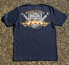 OCC OFFICIAL Orange County Choppers Exhaust Pipe Navy Blue T-Shirts Small
