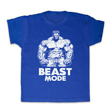 BEAST MODE GYM WORKOUT SLOGAN FITNESS KIDS T SHIRT TEE ALL COLOURS & SIZES