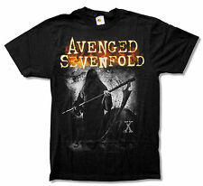 "AVENGED SEVENFOLD ""GRIMM"" BLACK T SHIRT NEW OFFICIAL ADULT A7X"