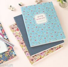 Nature Flower Notebook [L] School Line Journal Scrap Writing Blank Memo Diary