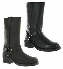 Mens Gringos Leather Tall Pull On Western Cowboy Harness Heeled Boots Size 6-12