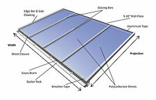 Lean-to Conservatory Roof Kit DIY, 2.5m Projection - Self Supported