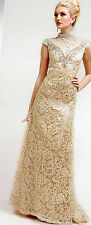 CHAMPAGNE  COCKTAIL PROM BRIDESMAIDS HOMECOMING FORMAL DRESS BALL GOWN  SZ 4-14
