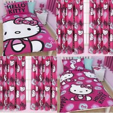 Hello Kitty Ink Single Duvet & Matching Curtains Bedding Set New Gift