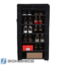 Songmics 7 Tier Shoe Rack Shoes Cabinet Stand Standing Storage Organizer
