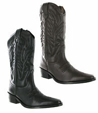 Gringos Kansas Leather Pull On Western Cowboy Pointed Toe Mens Boots 6-12