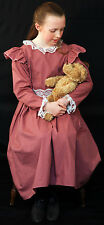 Girls Edwardian/WW1/The Great war Ladies DUSKY PINK DRESS Fancy Dress Costume