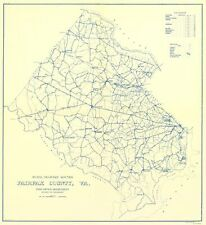 Old Transportation - FAIRFAX COUNTY VIRGINIA RURAL ROUTES - US POSTAL SVC 1912