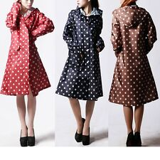 Pretty Women Girls Waterproof Quick-drying Outdoor Riding Clothes Dot Raincoat