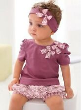 3PC Shirt + Pants + Headband Baby Girls Casual Outdoor Clothing Suit For 0-3Year