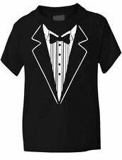Tuxedo Fancy Dress Funny Kids Boys Girls T-Shirt Age 1-13
