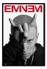 Framed Eminem Horns Poster Ready To Hang - Choice Of Frame Colours