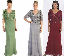 8 COLORS FORMAL OCCASION LOVELY MOTHER OF BRIDE / GROOM DRESS EVENING  M - 5XL