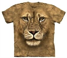 Lion Warrior Face T Shirt The Mountain Tee Wild Cat Animal King Jungle